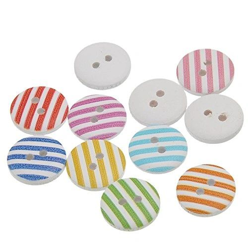 """Craft Sewing Decor 1-1//8/""""x3//8/"""" 6 lampes en bois Toggle Sewing Buttons 30x10mm"""