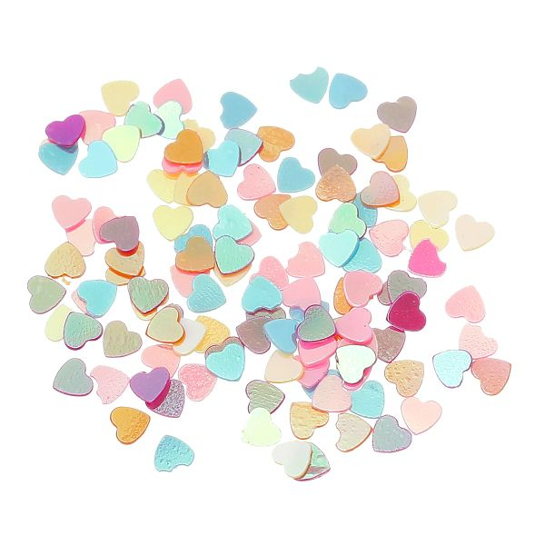 10g Tiny Heart Confetti, sequin, Embellishment, Ideal for Card Making 3mm