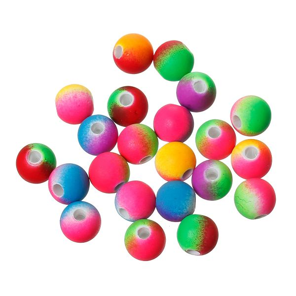 The Bead and Button Box - 100 Rainbow Coloured Acrylic Spacer Beads 8mm. Hole size 2.2mm (Approx). Perfect for Jewellery making and Craft work