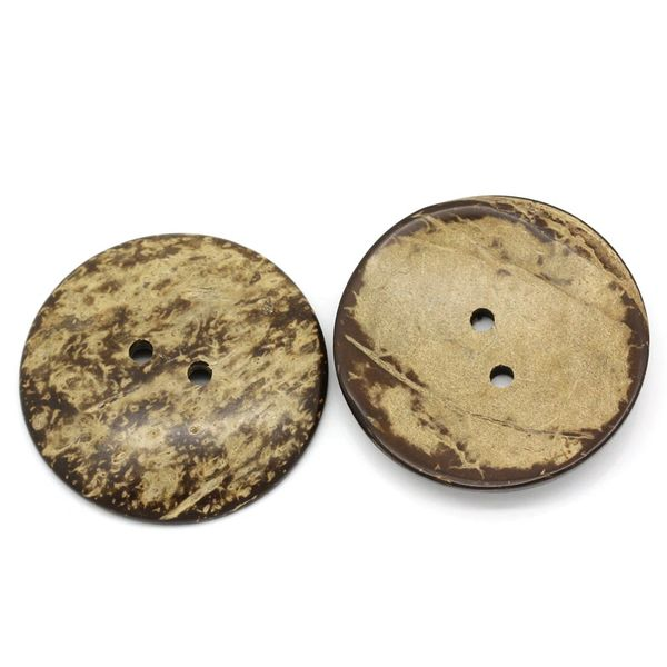 The Bead and Button Box - 3 Large Coconut Shell Buttons. 5cm (2 inches)