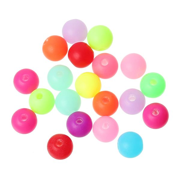 The Bead and Button Box - 25g (250) Acrylic Spacer Beads. 6mm. Assorted Colours