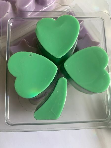 The Bead and Button Box - Sunrise Wax Melts. Luxury Home Fragrance Shamrock Leaf Shaped Clamshell Soy Wax Melt. Perfume Inspired Scents