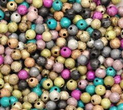 250 Acrylic Mixed Colour Stardust Beads 6mm