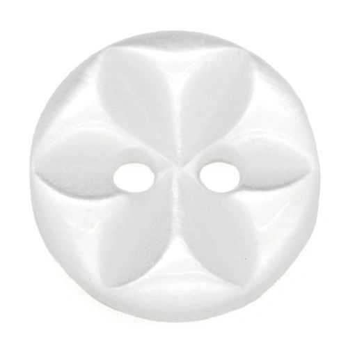 25 Clear White Flower embossed Resin Buttons 11mm. Sewing Knitting, Handbags, Cushions, Crafts, Scrapbook,