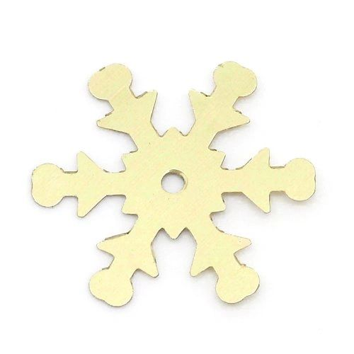 10g Over 200 Gold Snowflake Sequins, Confetti, 19mm. Great For Christmas