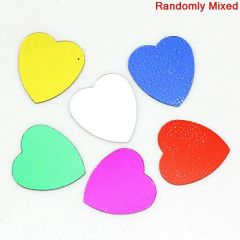 15g Heart Shaped 10mm Sequins Assorted Colours, confetti, decoration