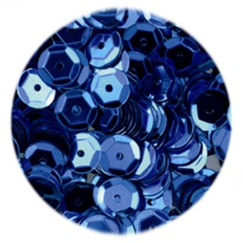15g of 6-7mm Blue Cup Sequins, Premium Quality & Great for all your Craft Projects: Card Making, Scrapbooking, Sewing, Wedding Favours & Lots more...