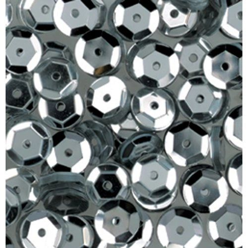 15g of 6-7mm Silver Cup Sequins, Premium Quality & Great for all your Craft Projects: Card Making, Scrapbooking, Sewing, Wedding Favours & Lots more...