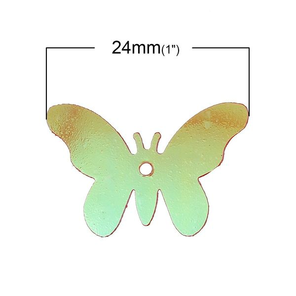 10g Butterfly Shaped 10mm Sequins Assorted Colours, confetti, decoration