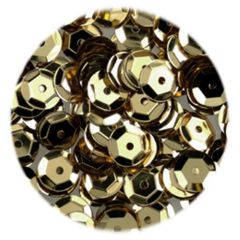 15g of 6-7mm Gold Cup Sequins, Premium Quality & Great for all your Craft Projects: Card Making, Scrapbooking, Sewing, Wedding Favours & Lots more...
