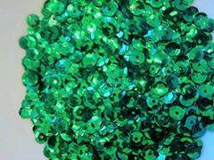 15g of 6-7mm Green Cup Sequins, Premium Quality & Great for all your Craft Projects: Card Making, Scrapbooking, Sewing, Wedding Favours & Lots more...