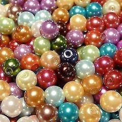 400 Mixed Glass Pearl Beads 4mm, sewing, jewellery making, crafts