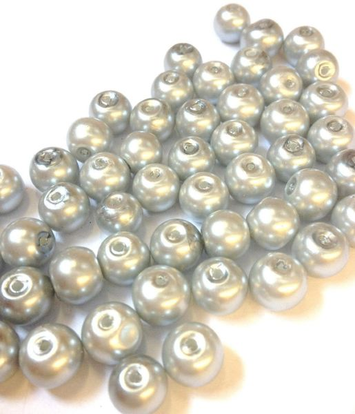 400 Silver Glass Pearl Beads 4mm, sewing, jewellery making, crafts