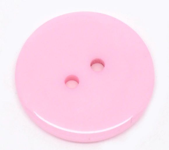 The Bead and Button Box - 10 Pink Resin Buttons 23mm. Ideal for sewing, scrap booking, card making, jewellery, and other craft projects