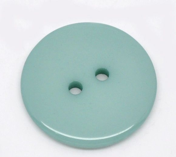 The Bead and Button Box - 10 Cyan Resin Buttons 23mm. Ideal for sewing, scrap booking, card making, jewellery, and other craft projects