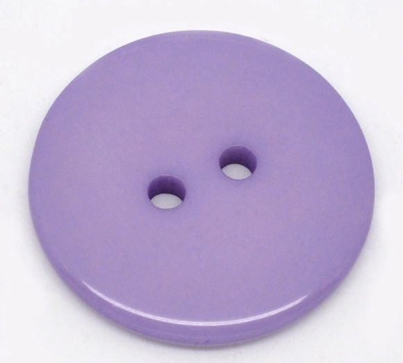 The Bead and Button Box - 25 Purple Resin Buttons 23mm. Ideal for sewing, scrap booking, card making, jewellery, and other craft projects