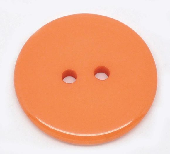 The Bead and Button Box - 25 Orange Resin Buttons 23mm. Ideal for sewing, scrap booking, card making, jewellery, and other craft projects