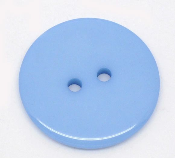 The Bead and Button Box - 10 Blue Resin Buttons 23mm. Ideal for sewing, scrap booking, card making, jewellery, and other craft projects