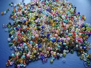 The Bead and Button Box Glass seed beads 8/0 (3mm) Rainbow of colours 75g Great Colours Loads of small Beads