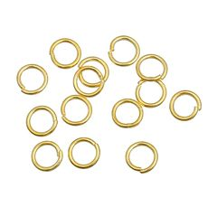 The Bead and Button Box - 300 Gold Tone Open Jump Ring 5mm. Lead and Nickel Free. Ideal for Jewellery Making and other crafts