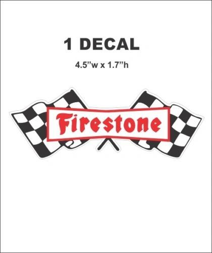 Vintage Style Firestone Racing Fire stone Tires Decal