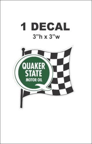 Vintage Style Quaker State Motor Oil Racing Decal