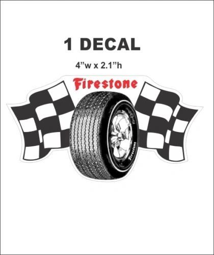 Vintage Style Racing Firestone Tires Decal