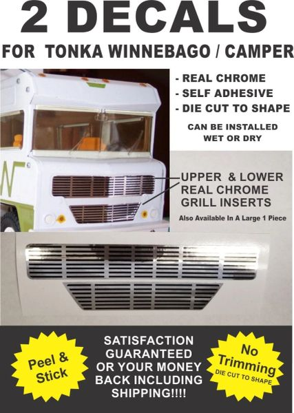 Winnebago Indian Conversion Van Grill Real Chrome Decals For Tonka - Very Nice!!