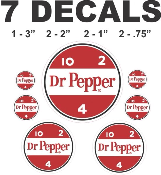 7 Dr Pepper Decals 10 2 4 - Nice
