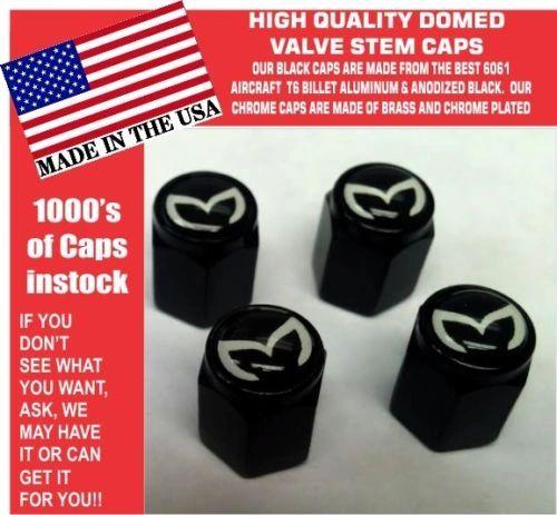 4 Billet Aluminum Mazda Evil M Mazdaspeed 3 5 6 Valve Stem Air Caps Black White