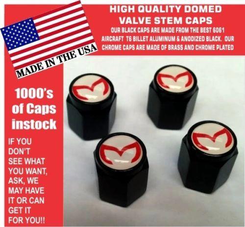 4 Billet Aluminum Mazda Evil M Mazdaspeed 3 5 6 Valve Stem Air Caps White Red