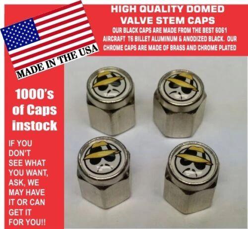 4 Chrome Domed Low Rider Valve Stem Caps Dayton