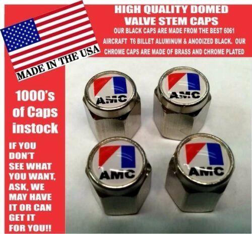 AMC American Motors Chrome Valve Stem Caps - Very Nice Unique