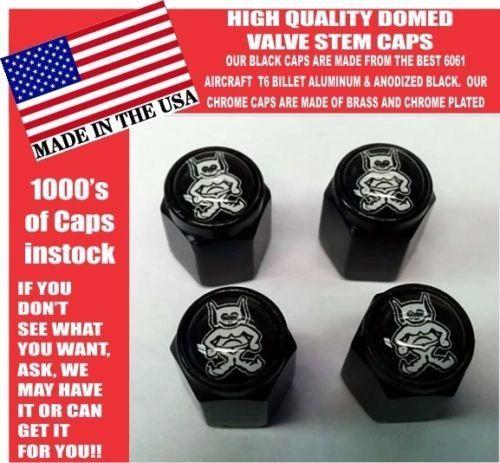 AMC AMX American Motors Gremlin Black Billet Valve Stem Caps -Very Nice