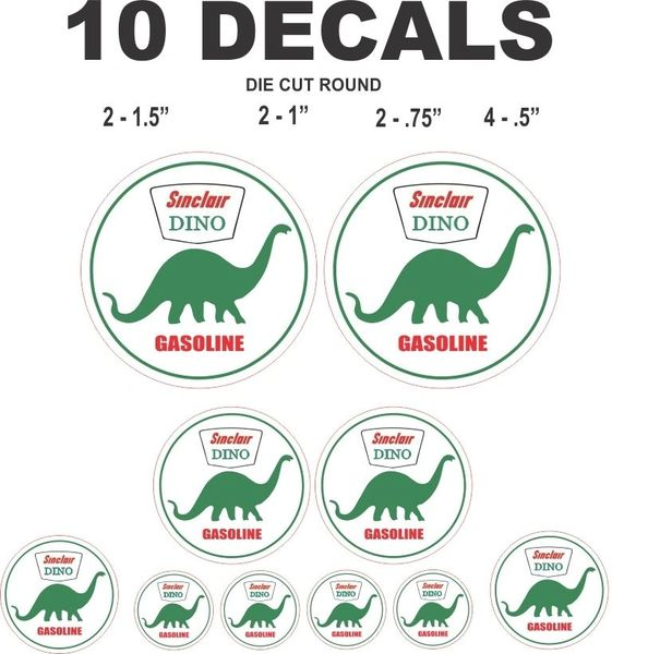 10 Sinclair Dino Decals for Dioramas and more - Nice!