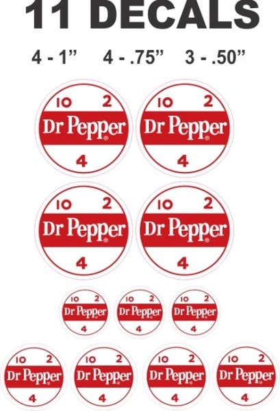 11 Dr Pepper Decals - Great For Dioramas