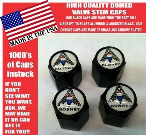 AMC Hornet American Motors Black Billet Valve Stem Caps -Very Nice Unique