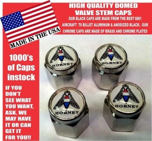 AMC Hornet American Motors Chrome Valve Stem Caps -Very Nice! Unique!