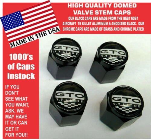 Billet Aluminum Pontiac GTO 5.7 LS2 Black Valve Stem Caps Quality Metal