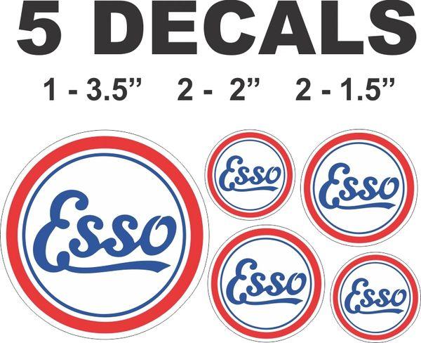 5 Esso Decals