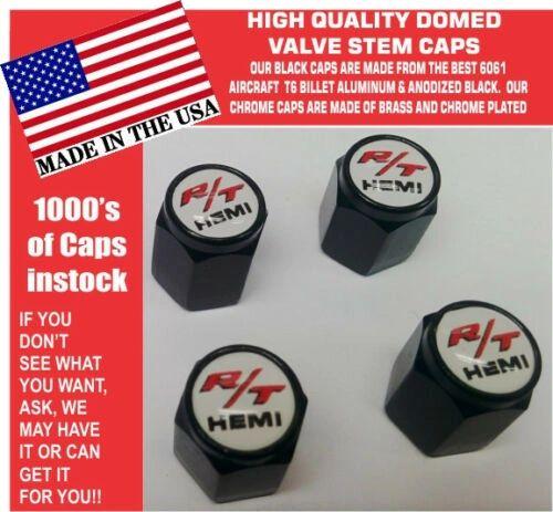 Billet Dodge Challenger Hemi RT SRT Hellcat Mopar White Valve Stem Caps Nice!