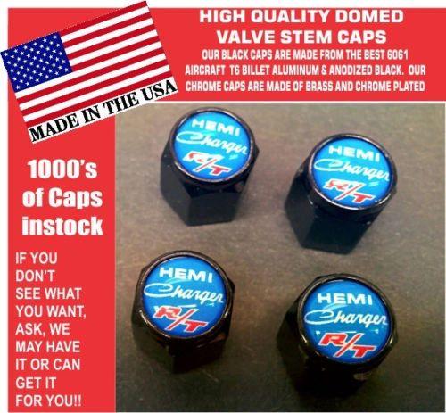 Billet Dodge Charger Hemi RT SRT Hellcat Mopar Blue Valve Stem Caps High Quality