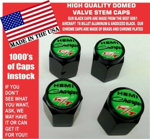 Billet Dodge Charger Hemi RT SRT Hellcat Mopar Sublime Green Valve Stem Caps