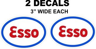 2 Esso Oval Decals