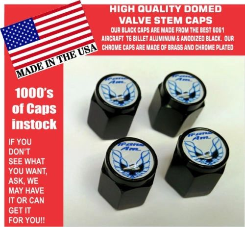 Billet Pontiac Trans Am TransAm Formula Firebird Blue Bird Valve Stem Caps NICE