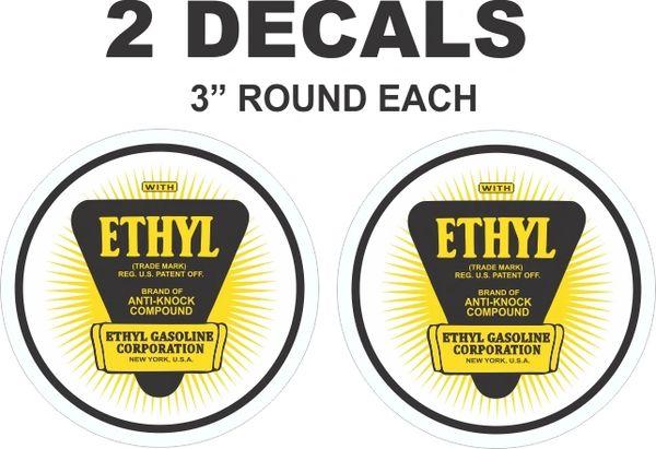 2 Round Ethyl Gasoline