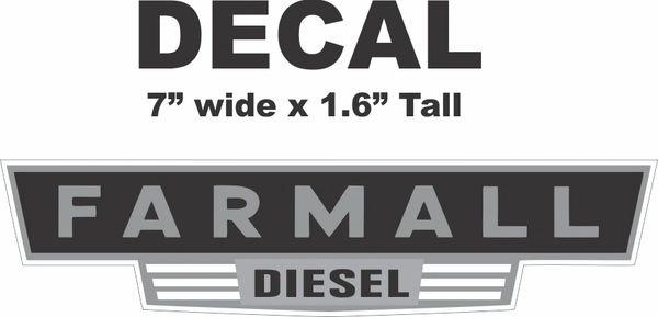 Farmall Diesel Decal - Very Nice