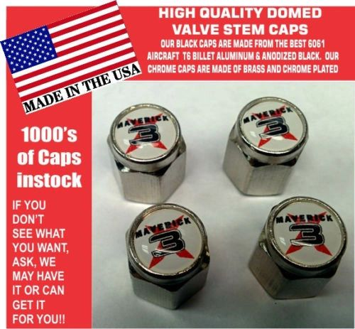 Chrome Can Am UTV ATV Commander Maverick XRS X3 1000R Turbo Valve Stem Caps