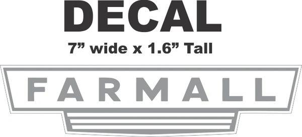 Farmall Grey Decal - Very Nice Hugh Quality
