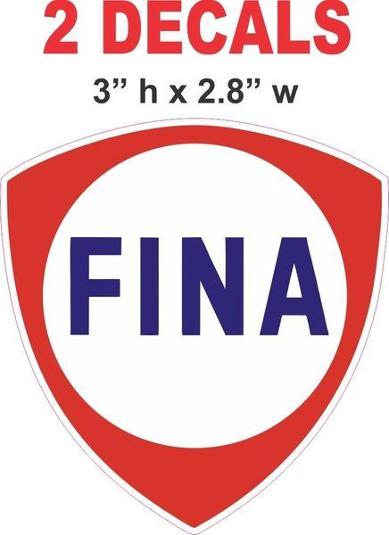 2 Fina Gasoline Decals